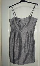 Robe bustier  tunique à bretelles gris argenté imprimé H&M T 38 - TBE