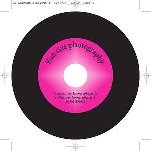 100 Vinyl Inkjet Printable CD