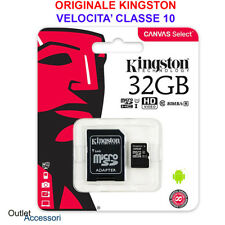 Memoria Memory Card Micro SD Kingston 32GB per Huawei P8 lite 2017 P9 P10 Mate S