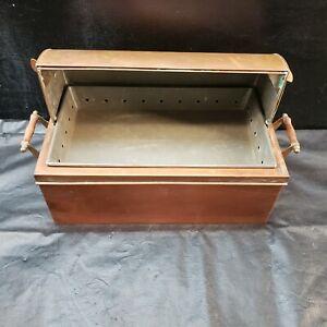 "Vintage Bazar Francais New York ""666"" Copper Chafing Dish or Bread Box"