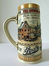 The Strohs Brewery Company Beer Stein Buck Heritage Series Ii Embossed Ceramarte