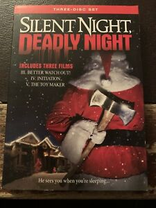 3-Disc DVD - Silent Night, Deadly Night 3 4 & 5 (2009) w/ RARE & HTF Slipcover