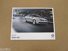 2012 Volkswagen VW Jetta GLI Autobahn sales brochure dealer catalog literature