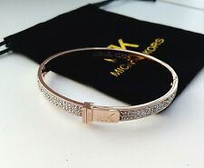 Michael Kors Braccialetto Rose Gold MK Logo Bracciale Bangle con un sacchetto