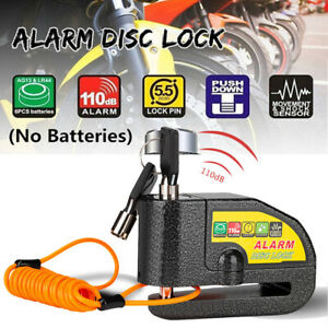 Motorcycle Alarm Disc Lock Brake Handlebar Throttle Grip Lock Bike Security AU