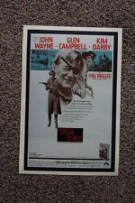 True Grit #1 Lobby Card Movie Poster John Wayne Glen Campbell Robert Duvall Kim