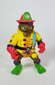 Vintage 1991 TMNT Ninja Hose em Down Don Donatello Firefighter