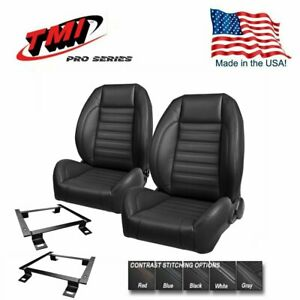 TMI Pro Series Bucket Seat Set + Rear Upholstery 1971-73 Mustang Convertible