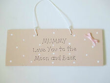 Love You Mummy Plaque - Moon and Back - Mother's Day Gift - Hall Decor