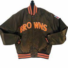 Starter Cleveland Browns Satin Jacket VINTAGE Dawg Pound NFL MEDIUM