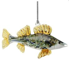 Walleye Fish Art Glass Ornament Dynasty Gallery Glassdelights Collectible New