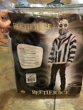 BeetleJuice Zip Up Hoodie Costume- One Size Adult Halloween