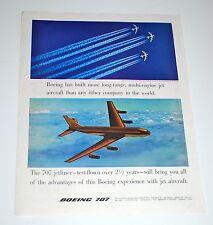 Vintage 1957 Boeing 707 Jetliner Print Ad