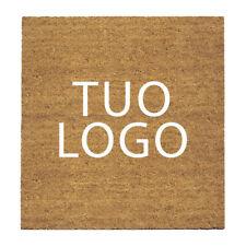 Zerbino cocco naturale personalizzato con logo, professionale, antiscivolo