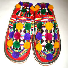 Moroccan Handmade Traditional Berber Babouches For Women,Authentic Leather shoes