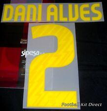 Barcelona Dani Alves 2 2010/11 Football Shirt Name/Number Set Home