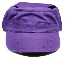NWT Purple Denim Baseball Cap For Pigtails or Buns Adjustable One Size Hat