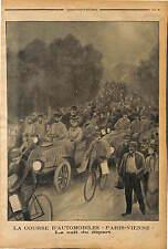 DEPART CHAMPIGNY GAGNANT MARCEL RENAULT Auto racing  PARIS WIEN AUTO RENNEN 1902