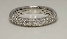 Diamond Wedding band ring ladies Eternity RING .50ct DIAMONDS Hatton garden made