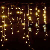 3.5M 96 LED Icicle Hanging Snowing Curtain String Fairy Lights PARTY Decor