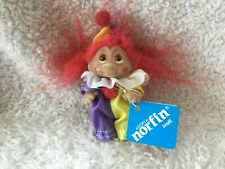 """NORFIN DAM 3"""" BITSEY the CLOWN TROLL DOLL Red Hair, with tag"""