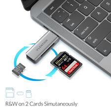 LENTION OTG USB C zu Micro SD Kartenleser SD Karten Lesegerät for iPad Pro