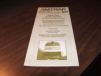 OCTOBER 1984 AMTRAK NEW YORK STATE SERVICE/MONTREAL PUBLIC TIMETABLE
