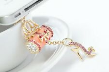 pink bag High heels 3.5mm Anti Dust Plug Cover Stopper Charm for iPhone 5 4/4s