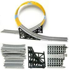 """9pc 1985 TYCO Slot Car Track 7"""" Transition ENTRY +SUPPORTS Just Add Loop Pieces!"""