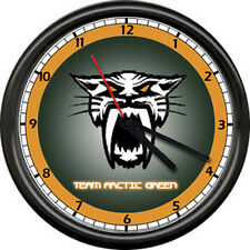 Team Arctic Cat Snowmobile Panther Orange Snow Racing Dealer Sign Wall Clock