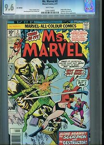 Ms Marvel #2 CGC 9.6 Marvel Comic Type 1A U.S Published  U.K Pence cover variant