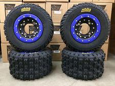 Hiper CF1 Beadlock Rims ITP Holeshot MXR6 Tires Front/Rear MX Kit Raptor 700 660