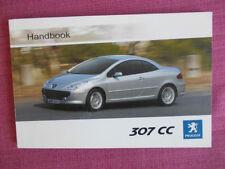 Peugeot 307 Paper Car Owner & Operator Manuals