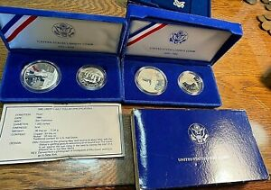 1986 Statue of Liberty Proof Two Coin Set (Silver $1+ Half) Best Price Ebay CHN
