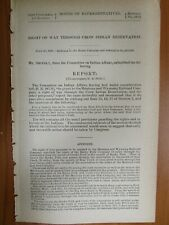 Government Report 7/25/1890 Montana Wyoming Railroad Co. Crow Indian Reservation