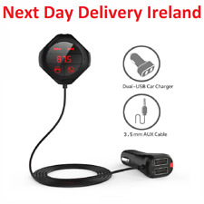 Bluetooth FM Transmitter Hands Free Wireless Car MP3 Player Dual USB AUX Cable