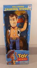 1995 Toy Story Talking Woody Parlant Doll Think Way Pull String 1st Edition