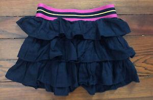 Ralph Lauren Toddler Girl Navy Blue Cotton Ruffle Skirt - Size 3T