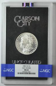 1882 CC $1 Morgan Silver One Dollar GSA Hoard NGC MS63 Carson City