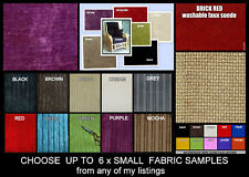 FABRIC SAMPLES - CHOOSE UP TO 6 SMALL SAMPLES - SEE ALL MY LISTINGS FOR CHOICES