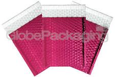 20 x SHINY METALLIC GLOSS HOT PINK FOIL BUBBLE PADDED ENVELOPES BAGS 180x250mm