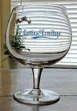 Cuvee de l'ermitage Belgian Beer Glass Alken Maes Brewery Blue Front Clear Glass