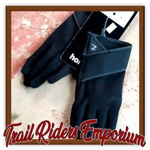 Horze Ruby Winter Gloves SIZE 9 Medium to Large Ladies Black Horse Riding Gloves