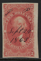 SCOTT R81a $2 CONVEYANCE 1ST ISSUE REVENUE ISSUE USED VF CAT $250!