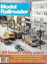 Model Railroader Aug 83 Trolly Smashboard Signals Brass Caboose Dallas Shay HO