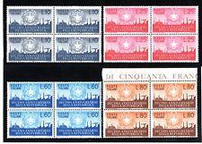 Italia 1956 : Decennale Repubblica - quartine nuove non linguellato, MNH**