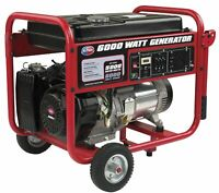 All Power 6000-W 120V/240V Portable Gas Powered Generator with Wheel Kit Home RV