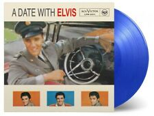 Elvis Presley: A Date With Elvis Reissued 180g Blue Coloured Vinyl LP Record