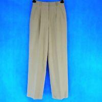Theory Damen Hose Pleat Pant Gr 34 36 Braun mit Wolle Viskose Taschen Np 520 Neu
