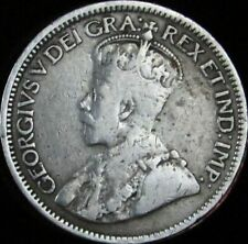 1919 Canada Silver 10 Cents - KM# 23 - Fine- (VG+) - JG